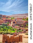 desert village with kasbah ait... | Shutterstock . vector #1093738817
