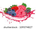 forest fruit with splash... | Shutterstock . vector #109374827