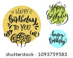 happy birthday. vector... | Shutterstock .eps vector #1093759583