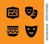 art filled set of vector icons... | Shutterstock .eps vector #1093769483
