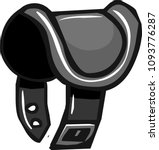 black saddle vector | Shutterstock .eps vector #1093776287