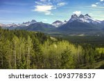 three sisters mountains scenic... | Shutterstock . vector #1093778537