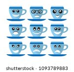 emoji emoticon expression | Shutterstock .eps vector #1093789883