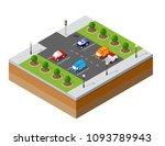 urban isometric parking | Shutterstock . vector #1093789943