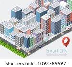 smart city isometric | Shutterstock . vector #1093789997