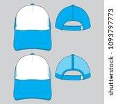 trucker full cap   net cap   Shutterstock .eps vector #1093797773