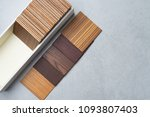 samples of material  wood   on...   Shutterstock . vector #1093807403