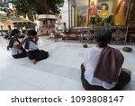 Burmese Women Sit To Practice...