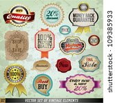 vintage and retro vector design ... | Shutterstock .eps vector #109385933
