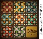 retro seamless pattern set.... | Shutterstock .eps vector #109386137