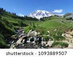 mount rainier    washington... | Shutterstock . vector #1093889507