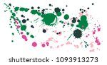 watercolor paint stains grunge... | Shutterstock .eps vector #1093913273