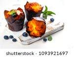 vegan banana oatmeal muffins... | Shutterstock . vector #1093921697