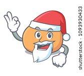santa mochi mascot cartoon style | Shutterstock .eps vector #1093930433