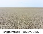desolate landscape with cracked ... | Shutterstock . vector #1093970237