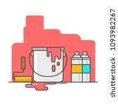 painting the wall   vector... | Shutterstock .eps vector #1093982267