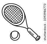 racket sports tennis  tennis... | Shutterstock .eps vector #1093986773