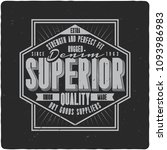 vintage label design with... | Shutterstock .eps vector #1093986983