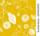 seamless exotic fruit pattern... | Shutterstock .eps vector #109401053