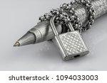 close up ballpoint pen locked... | Shutterstock . vector #1094033003