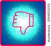 thumbs down or dislike hand...   Shutterstock .eps vector #1094053253