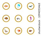 marine fauna icons set. cartoon ... | Shutterstock . vector #1094053463
