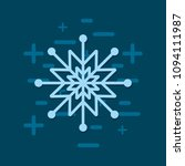 snowflake icon image | Shutterstock .eps vector #1094111987