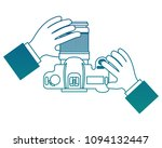 hands with camera photographic... | Shutterstock .eps vector #1094132447