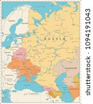 eastern europe political map... | Shutterstock .eps vector #1094191043