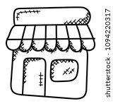 doodle vector icon design of a ... | Shutterstock .eps vector #1094220317