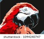 pop art portrait of beautiful... | Shutterstock .eps vector #1094240747
