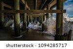 under casino pier in seaside...   Shutterstock . vector #1094285717