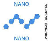 nano coin cryptocurrency... | Shutterstock .eps vector #1094304137