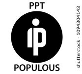 populous coin cryptocurrency... | Shutterstock .eps vector #1094304143