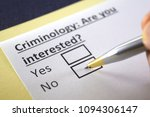 criminology  are you interested ... | Shutterstock . vector #1094306147