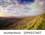 panoramic landscape with sunny... | Shutterstock . vector #1094317607
