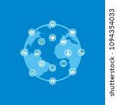 social media concept background....   Shutterstock .eps vector #1094354033