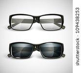 set of sunglasses and eyeglasses | Shutterstock .eps vector #109438253
