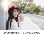 portrait pretty young woman... | Shutterstock . vector #1094383907