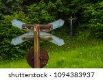 st. andrews cross in nature... | Shutterstock . vector #1094383937
