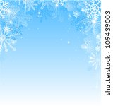 new year snowflakes abstract... | Shutterstock .eps vector #109439003