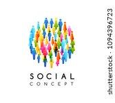 social conceptual emblem.... | Shutterstock .eps vector #1094396723