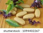 herbal tablet for good health | Shutterstock . vector #1094402267