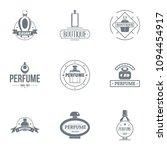 unique perfume logo set. simple ... | Shutterstock .eps vector #1094454917