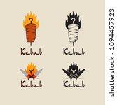 set of doner kebab logo... | Shutterstock .eps vector #1094457923