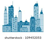 city skyline | Shutterstock .eps vector #109452053