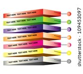 layers diagram  colorful   Shutterstock .eps vector #109453097