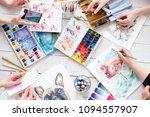 artist brushes set. instruments ... | Shutterstock . vector #1094557907