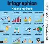 infographics finance business... | Shutterstock .eps vector #1094584133