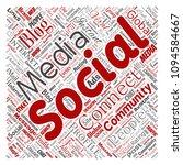 vector conceptual social media...   Shutterstock .eps vector #1094584667